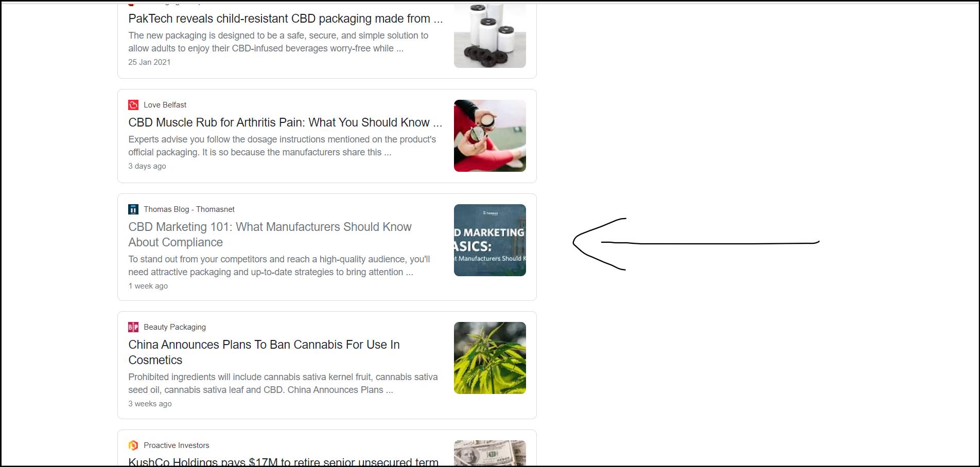 CBD news example