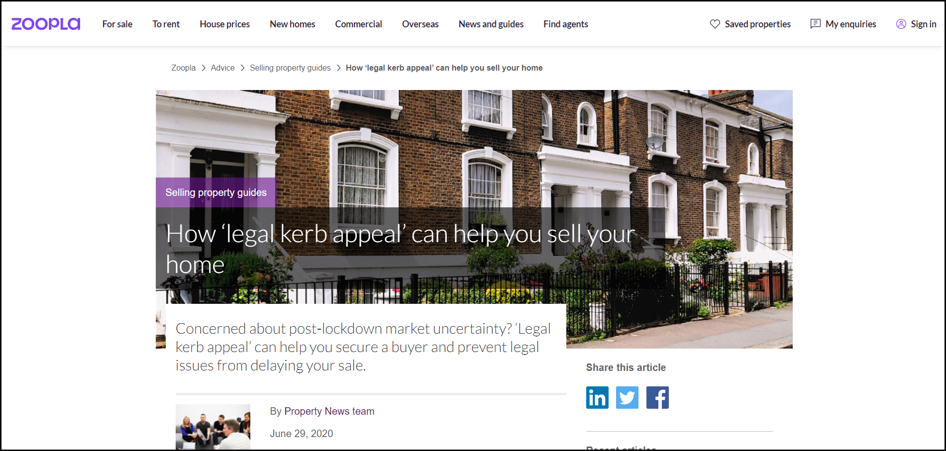 link from zoopla